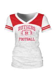 Rutgers Scarlet Knights Juniors White Intensity V-Neck