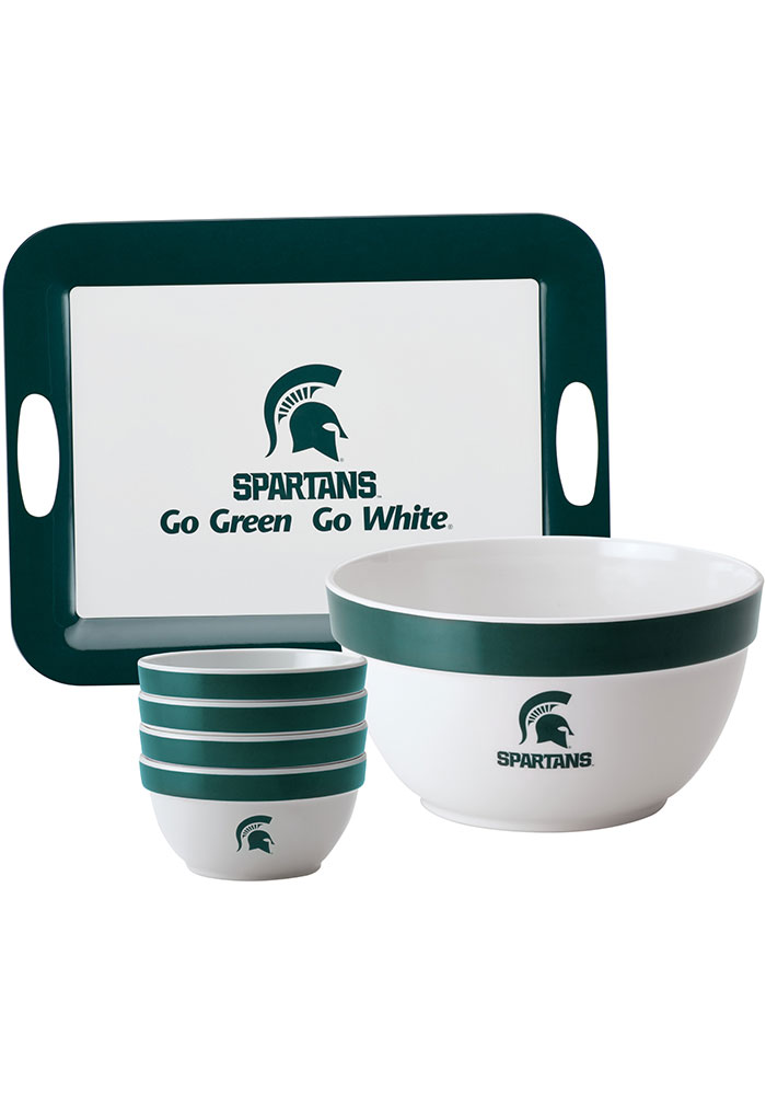 Michigan State Spartans 6-Piece Gift Set Serving Tray - Image 1