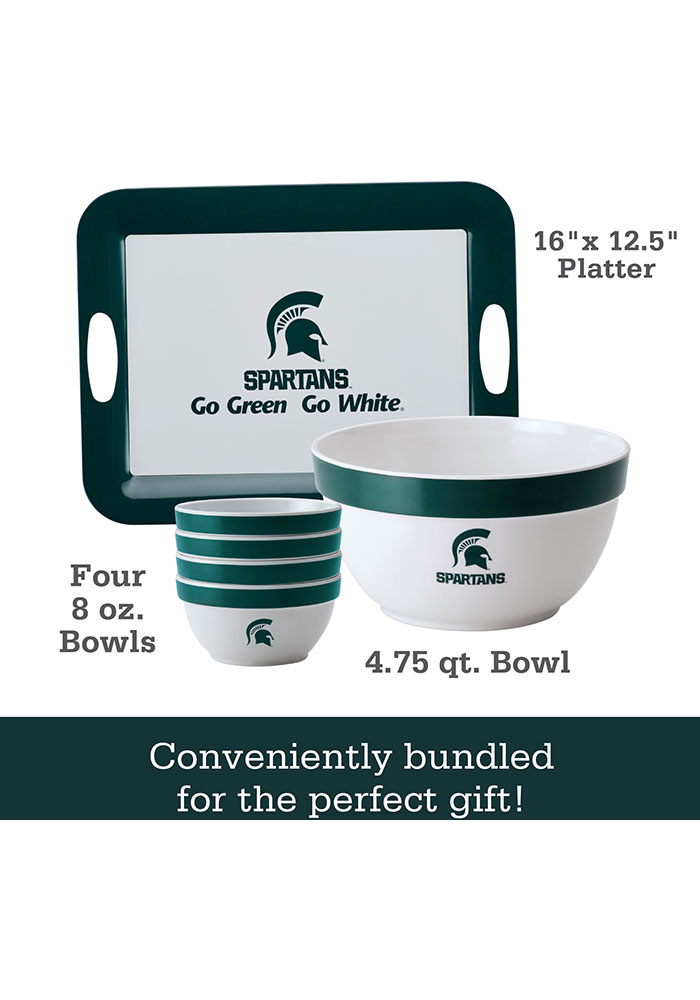 Michigan State Spartans 6-Piece Gift Set Serving Tray - Image 2