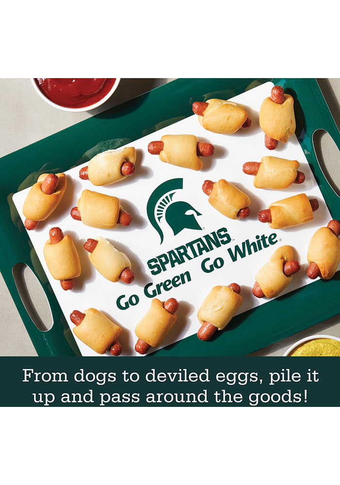 Michigan State Spartans 6-Piece Gift Set Serving Tray - Image 4