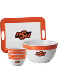 Oklahoma State Cowboys 6-Piece Gift Set Serving Tray