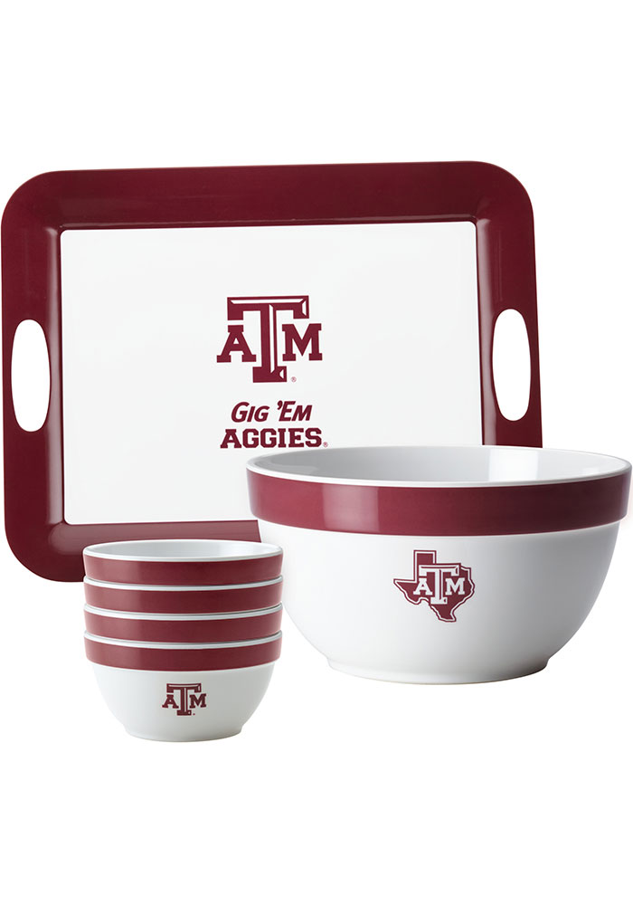 Texas A&M Aggies 6-Piece Gift Set Serving Tray - Image 1