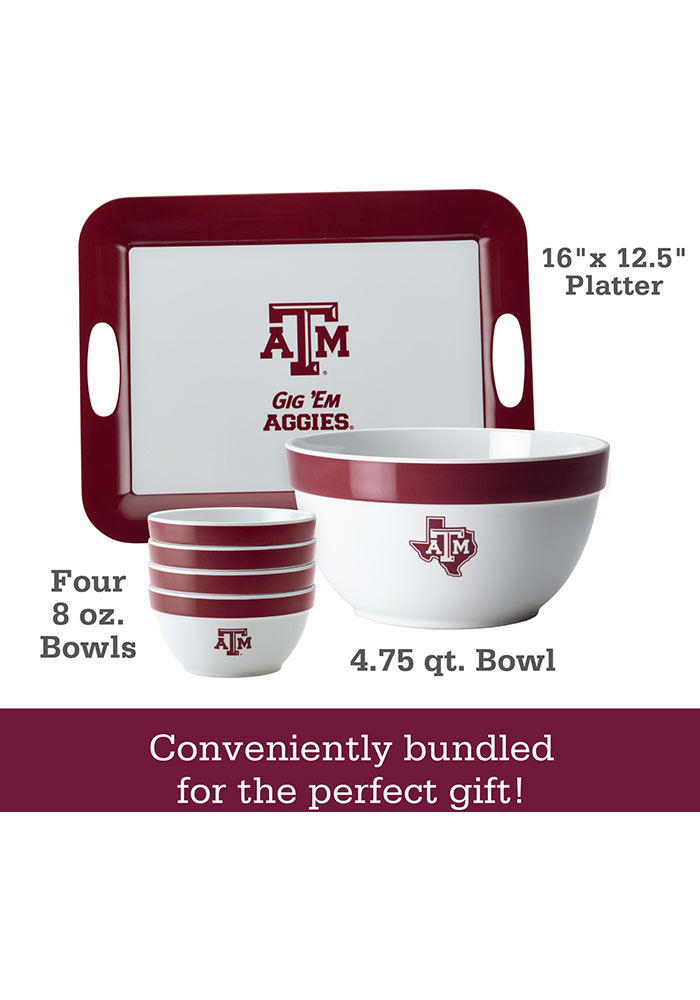 Texas A&M Aggies 6-Piece Gift Set Serving Tray - Image 2