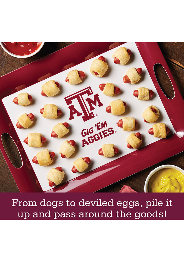 Texas A&M Aggies 6-Piece Gift Set Serving Tray - Image 4