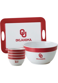 Oklahoma Sooners 6-Piece Gift Set Serving Tray