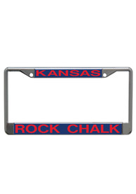 Kansas Jayhawks Rock Chalk License Frame