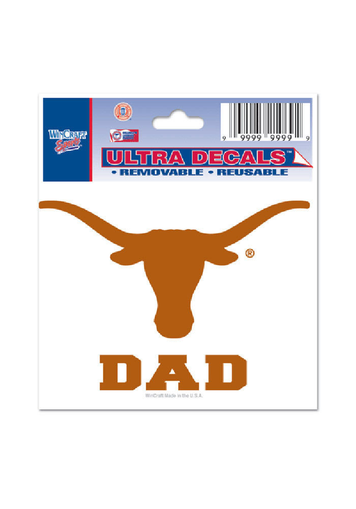 Texas Longhorns 3x4 Ultra Dad Decal - Image 1