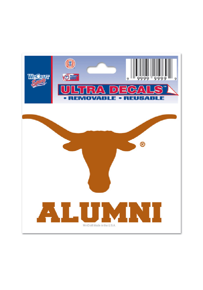 Texas Longhorns 3x4 Ultra Alumni Decal - Image 1