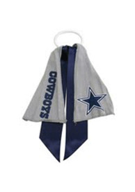 Dallas Cowboys Youth Ponytail Holder Hair Scrunchie - Navy Blue