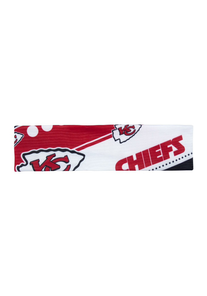 Kansas City Chiefs Stretch Patterned Womens Headband - Image 1