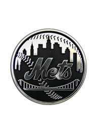 New York Mets Chrome Car Emblem - Black