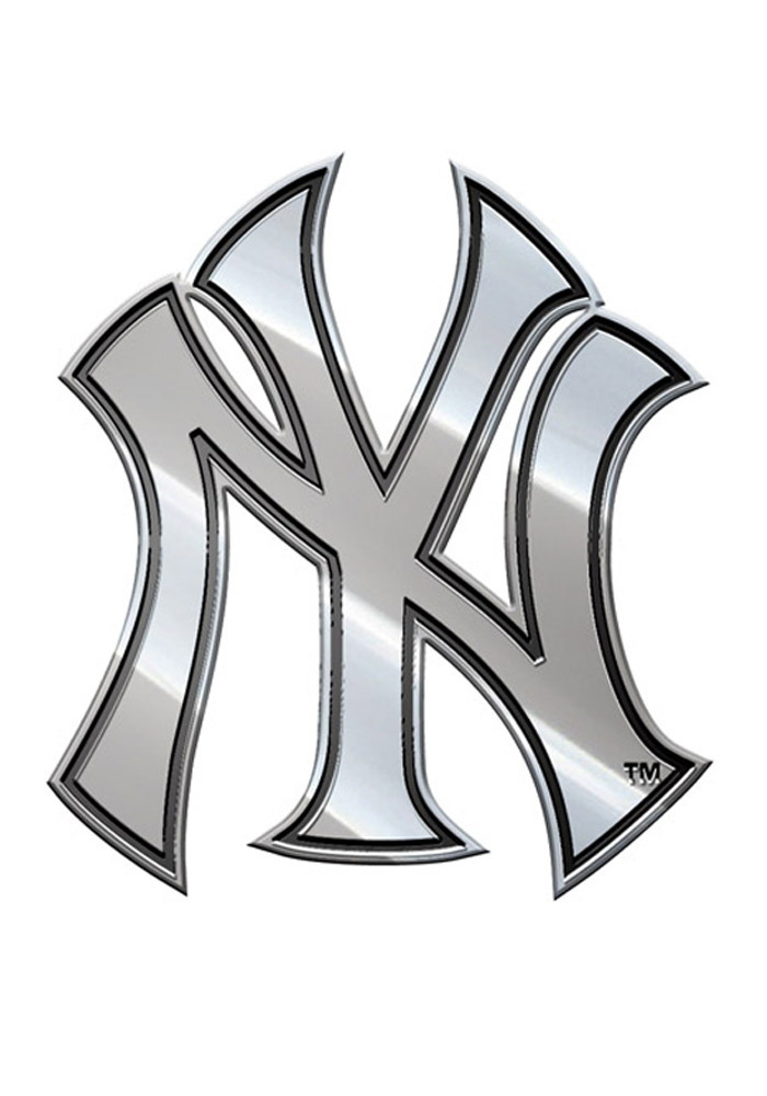 New York Yankees Plastic Car Emblem - Silver