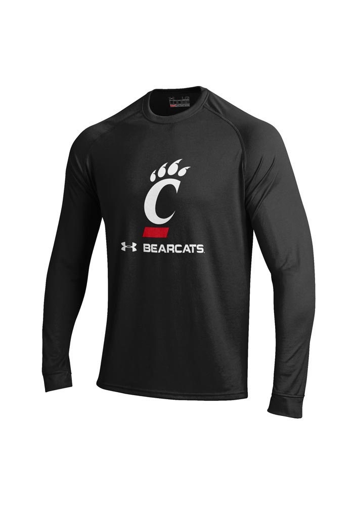 Under Armour Cincinnati Bearcats Black Tech Long Sleeve T-Shirt - Image 1
