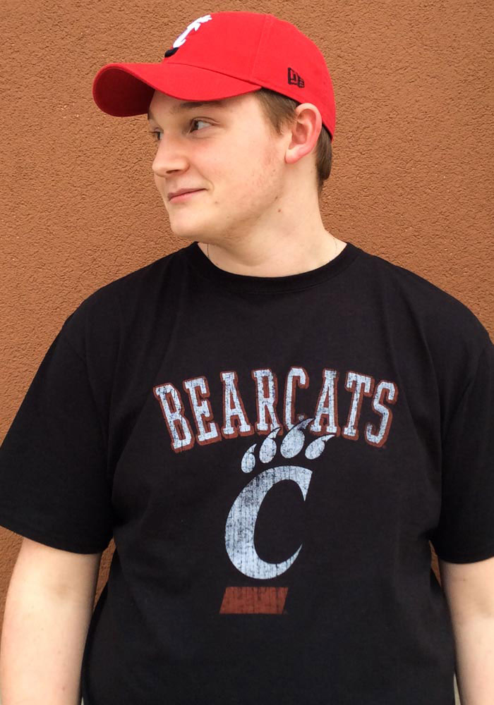 Cincinnati Bearcats Black Distressed Short Sleeve T Shirt - Image 2