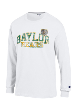 Baylor Mens White Distressed Arch Tee
