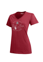 Oklahoma Womens Red Script T-Shirt