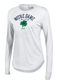 Under Armour Notre Dame Fighting Irish Juniors 60/40 White T-Shirt