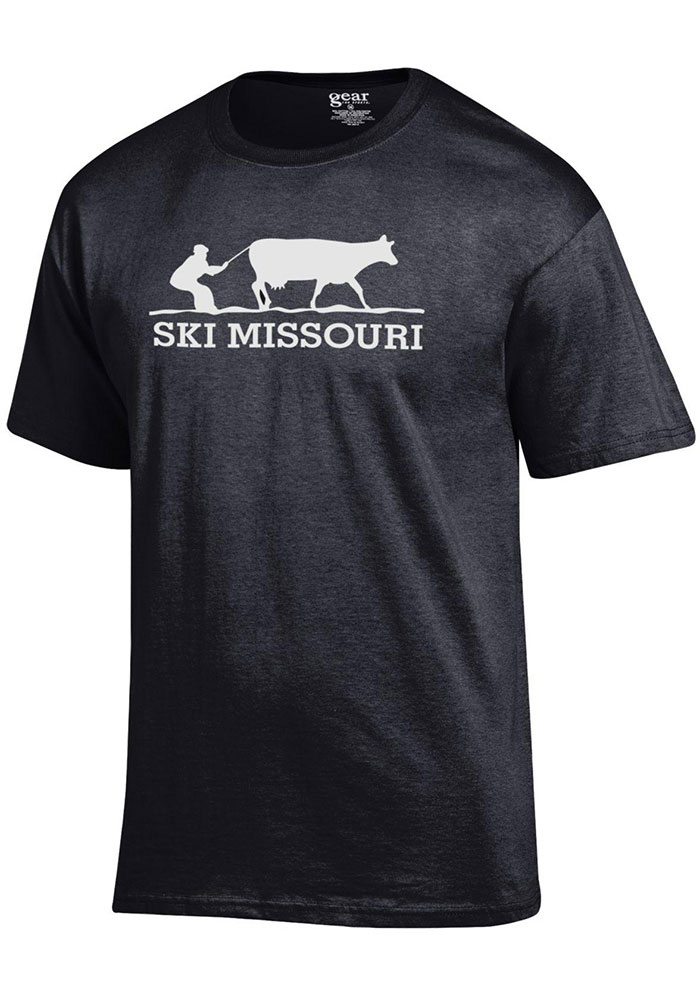 Missouri Black Ski MO Short Sleeve T Shirt - Image 1