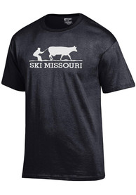 Missouri Black Ski MO Short Sleeve T Shirt