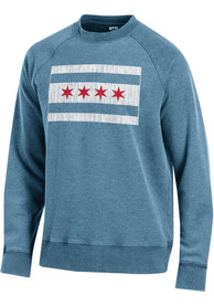 Chicago Flag Crew Sweatshirt - Light Blue