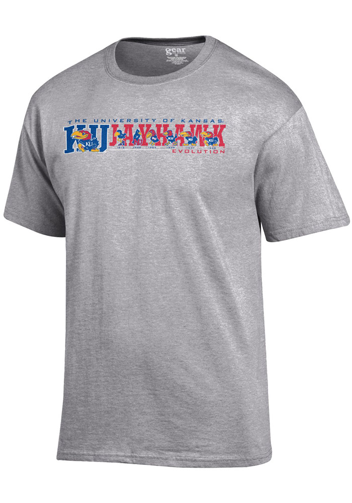 KU Jayhawks Gray Evolution T-Shirt
