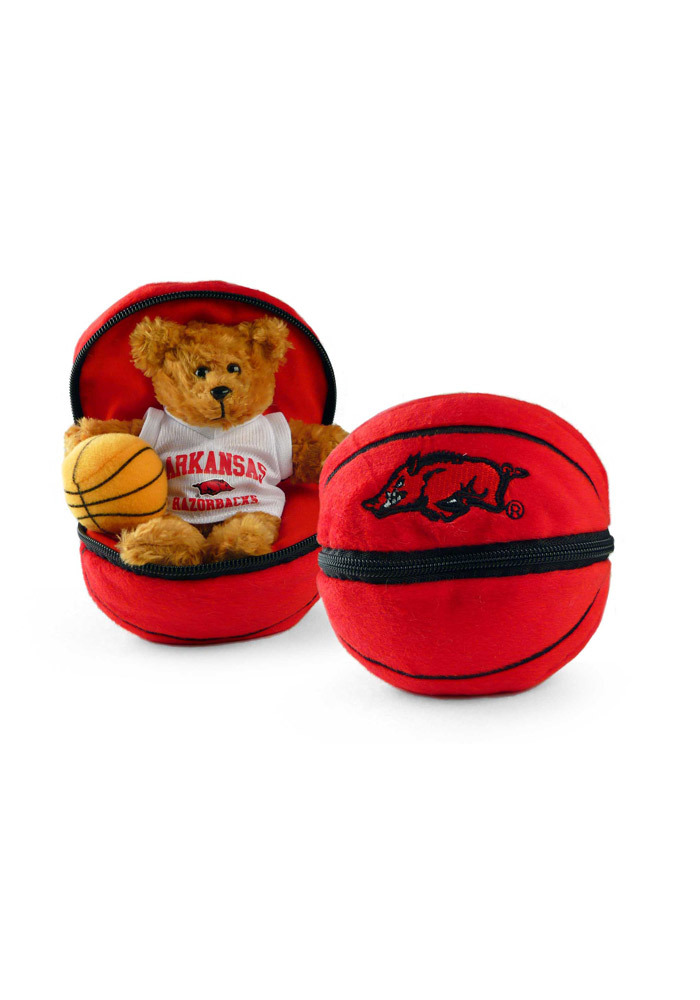 Arkansas Razorbacks Bear ZipUp Basketball Plush - Image 1