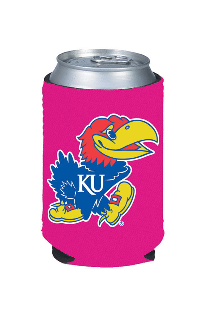 Kansas Jayhawks Pink Can Coolie