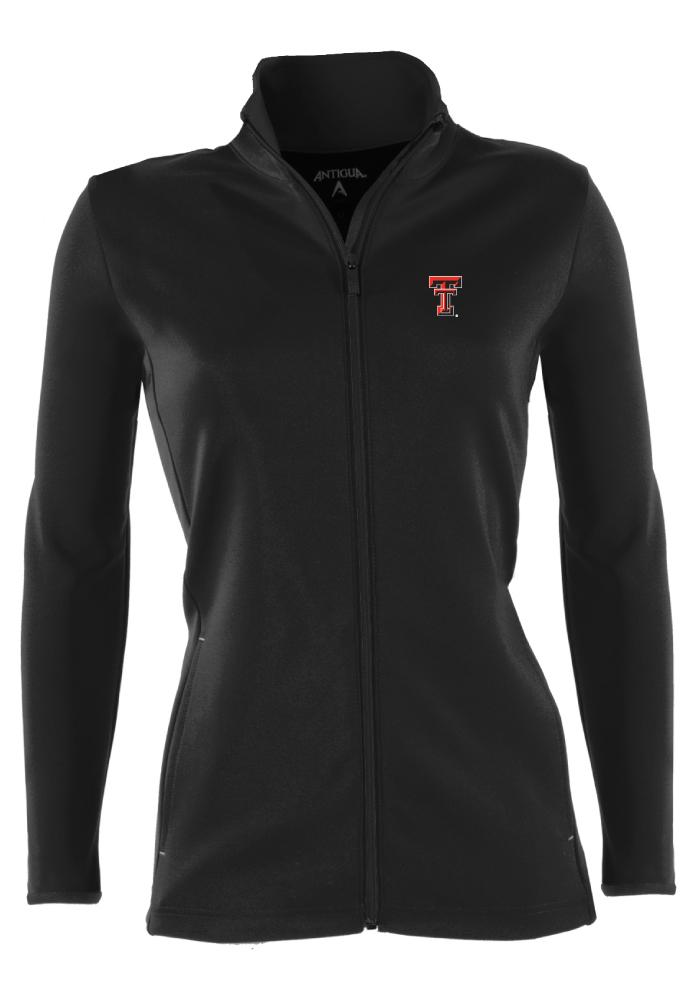 Antigua Texas Tech Red Raiders Juniors Black Leader Shine Light Weight Jacket - Image 1