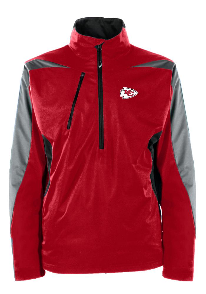 Antigua Kansas City Chiefs Mens Red Discover Long Sleeve 1/4 Zip Pullover - Image 1