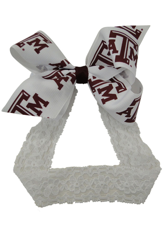 Texas A&M Aggies Lace Toddler Headband - Image 1