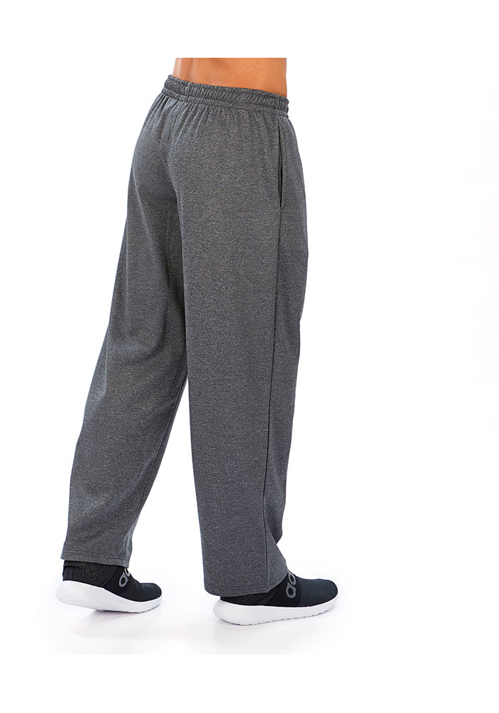 Zubaz Oakland Raiders Mens Grey Poly-Fleece Sweatpants - Image 2