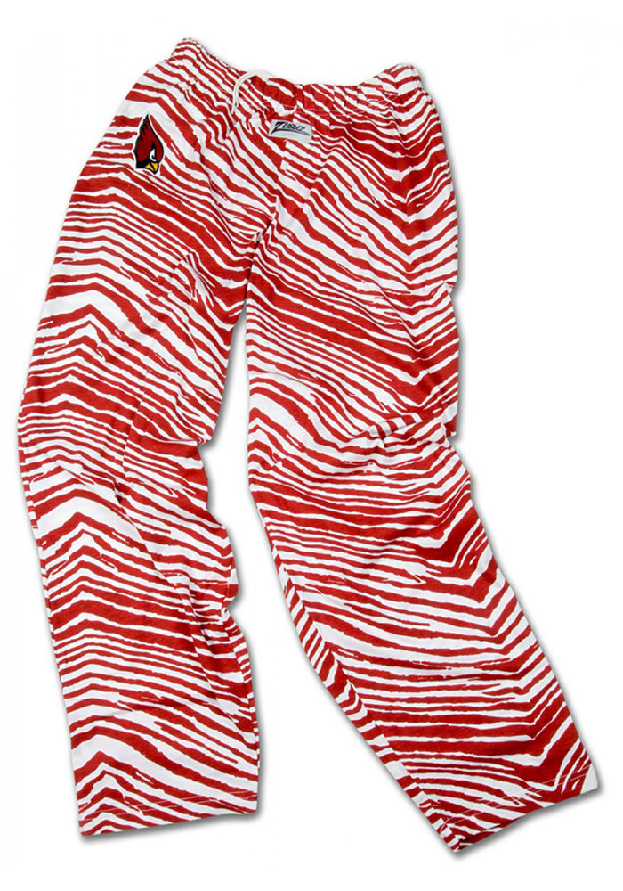 Zubaz Arizona Cardinals Mens Maroon Zebra Sleep Pants - Image 1