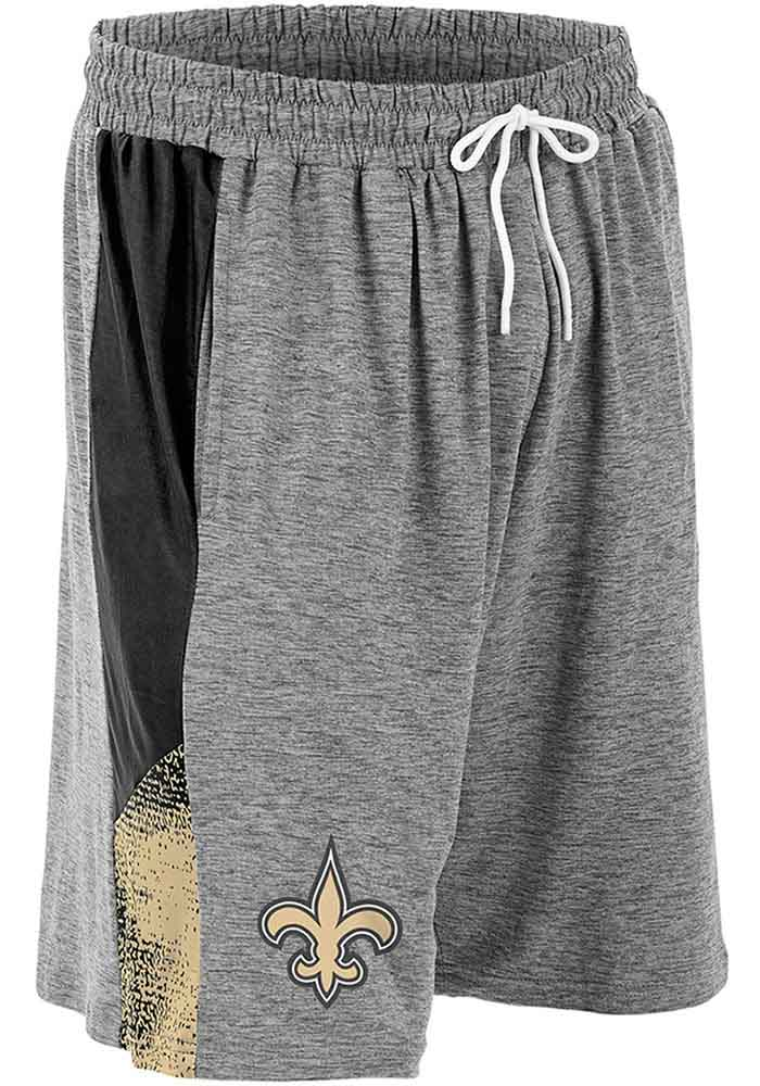 Zubaz New Orleans Saints Mens Grey Static Shorts - Image 1