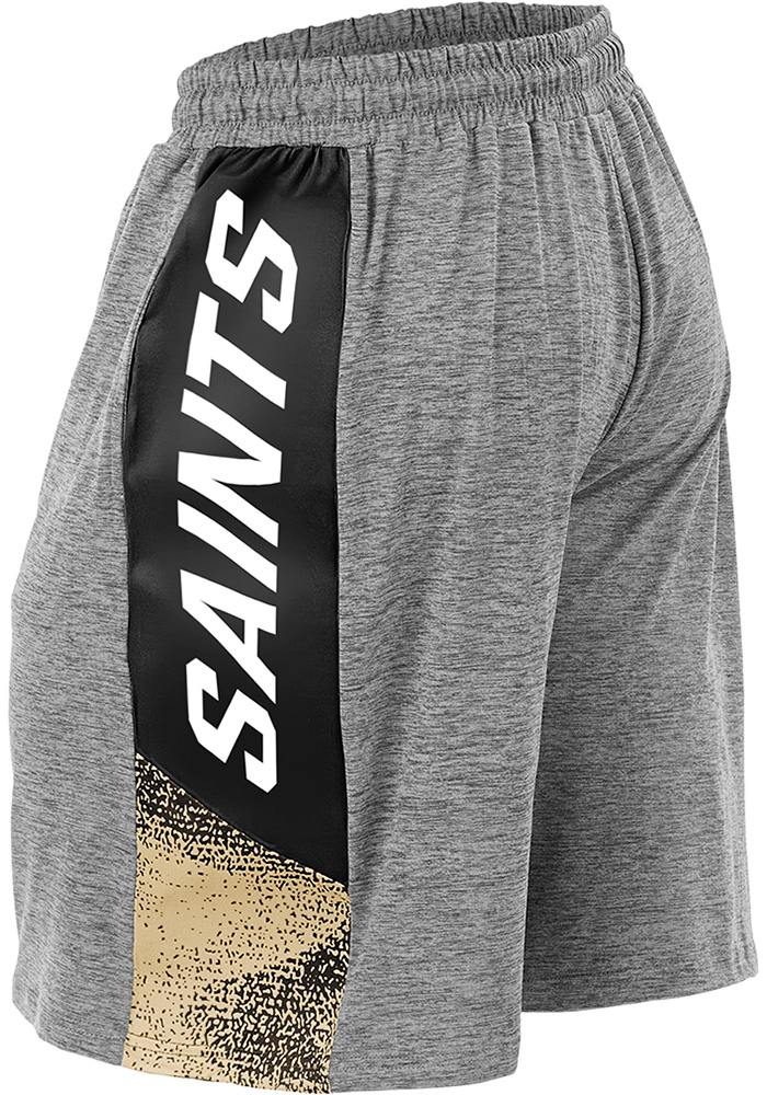 Zubaz New Orleans Saints Mens Grey Static Shorts - Image 2