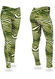 Green Bay Packers Womens Zubaz Zebra Pants - Green