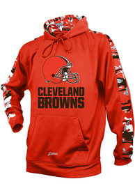 Cleveland Browns Zubaz Solid With Camo Hood - Orange