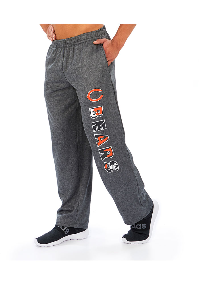 Zubaz Chicago Bears Mens Grey POLY Sweatpants - Image 1