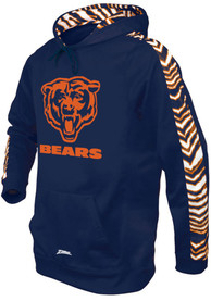 Chicago Bears Zubaz Solid With Camo Hood - Navy Blue