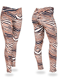 Chicago Bears Womens Zubaz Zebra Pants - Navy Blue