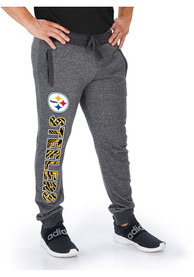 Pittsburgh Steelers Zubaz Marked French Terry Sweatpants - Charcoal