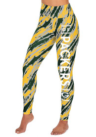 Green Bay Packers Womens Zubaz Diagonal Streak Pants - Green