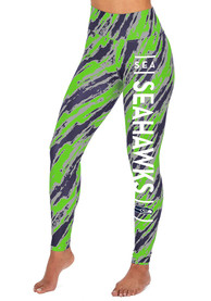 Seattle Seahawks Womens Zubaz Diagonal Streak Pants - Blue