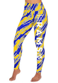 Los Angeles Rams Womens Zubaz Diagonal Streak Pants - Blue