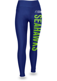 Seattle Seahawks Womens Zubaz Vertical Graphic Pants - Blue