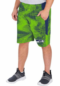 Seattle Seahawks Zubaz Static Shorts - Blue