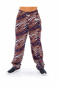 Denver Broncos Zubaz Traditional Three Color Zebra Sleep Pants - Orange