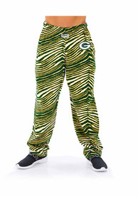 Green Bay Packers Zubaz Traditional Three Color Zebra Sleep Pants - Green