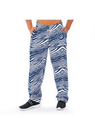 Indianapolis Colts Zubaz Traditional Three Color Zebra Sleep Pants - Blue