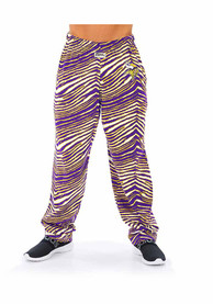 Minnesota Vikings Zubaz Traditional Three Color Zebra Sleep Pants - Purple