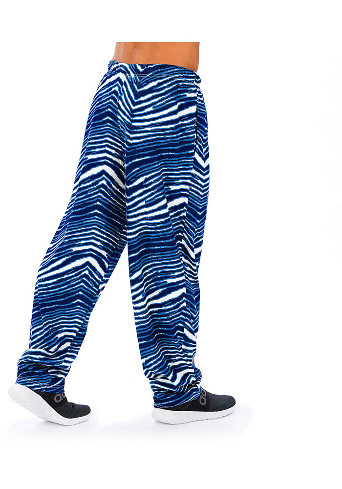 Zubaz Los Angeles Chargers Mens Blue Traditional Three Color Zebra Sleep Pants - Image 2